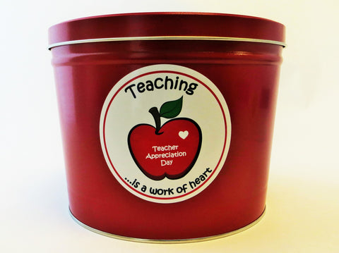 Cassie's Gourmet Popcorn Teacher Appreciation Tin 2 Gallon