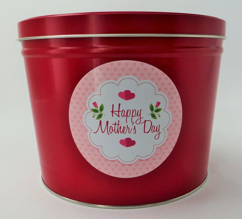 Cassie's Gourmet Popcorn Mother's Day 2 Gallon Tin