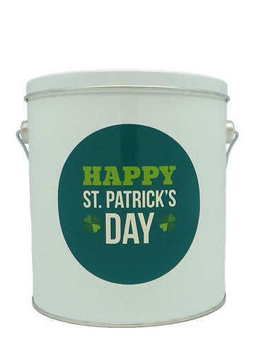 Cassie's Gourmet Popcorn 1 Gallon Tin St. Patrick's Day Happy St. Patrick's Day