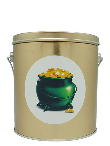 Cassie's Gourmet Popcorn 1 Gallon Tin St. Patrick's Day Pot of Gold