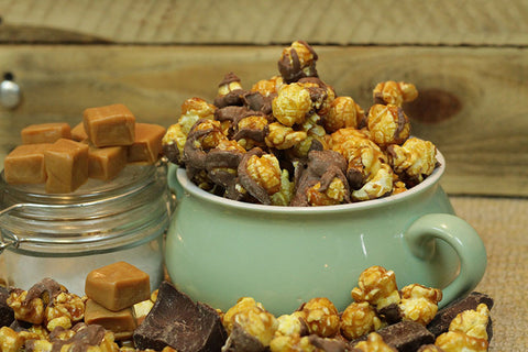Cassie's Gourmet Popcorn Sea Salt Caramel with Chocolate Drizzle Popcorn