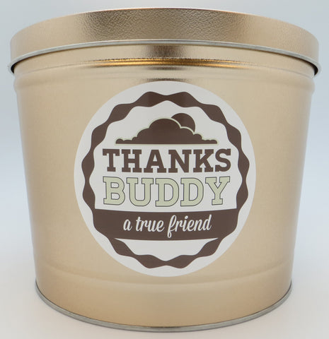 Cassie's Gourmet Popcorn Thank You Create your Own Tin 3.5 Gallon