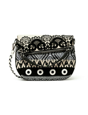 Bolso Black White Folded