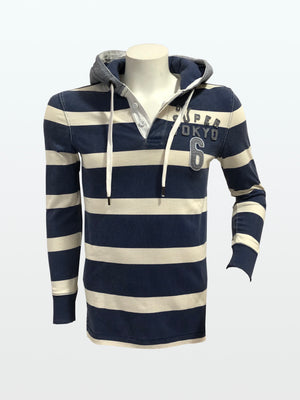 Sudadera Superdry a rallas French Navy