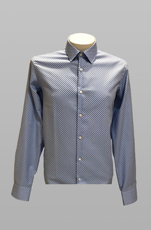 Camisa regular fit en algodón estampado