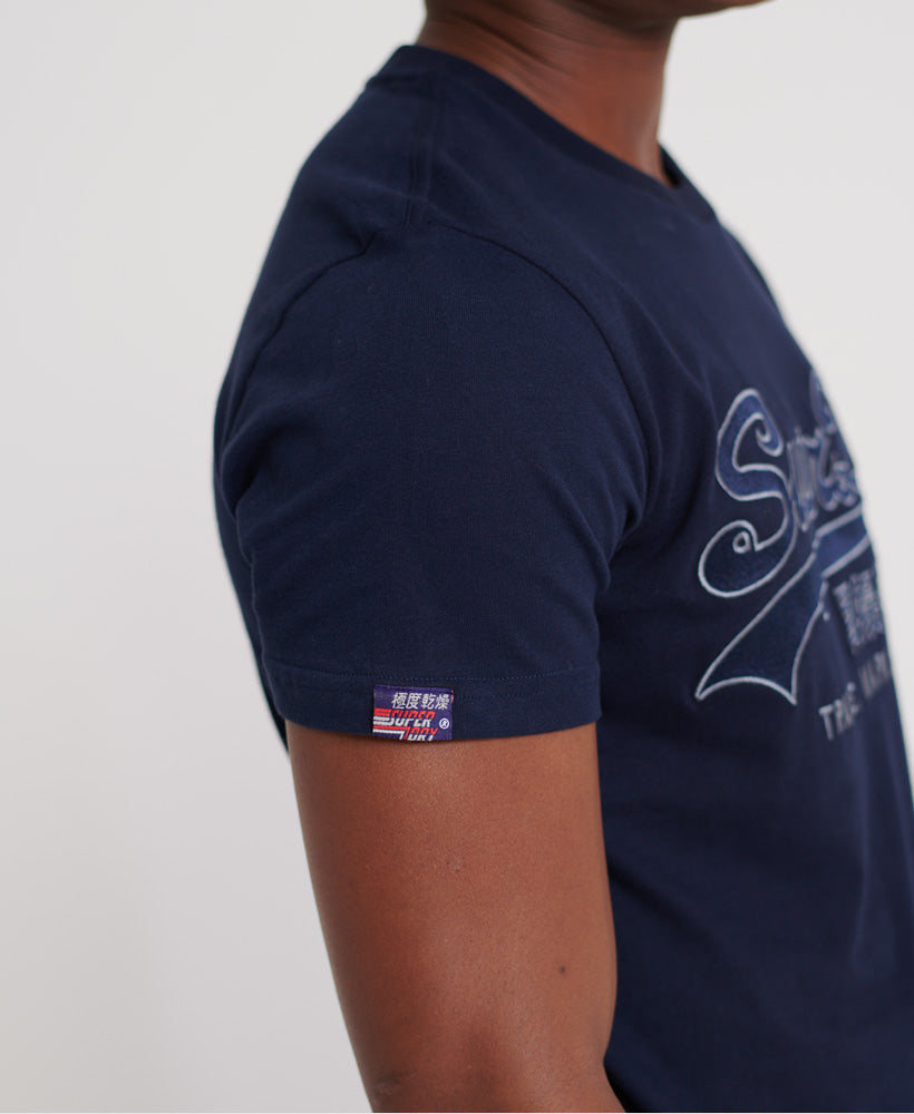 Downhill Racer Applique Camiseta