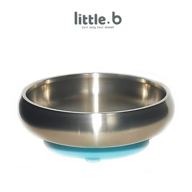 Baby Feeding Stainless Steel-Double-ply 316 Stainless Steel Suction Cereal Bowl - BLUE