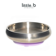 Load image into Gallery viewer, Baby Feeding Stainless Steel-Double-ply 316 Stainless Steel Suction Cereal Bowl - Purple