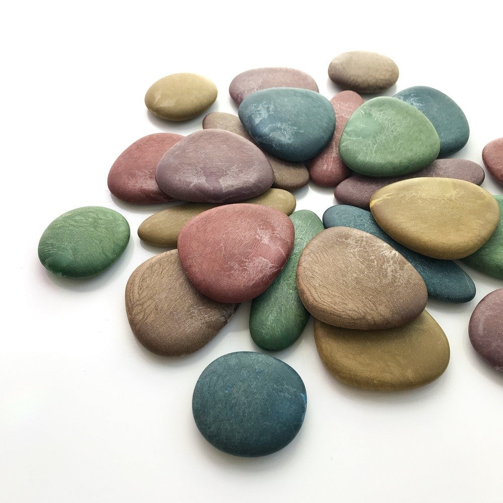 ECO-FRIENDLY JUNIOR RAINBOW PEBBLES - JAR OF 36