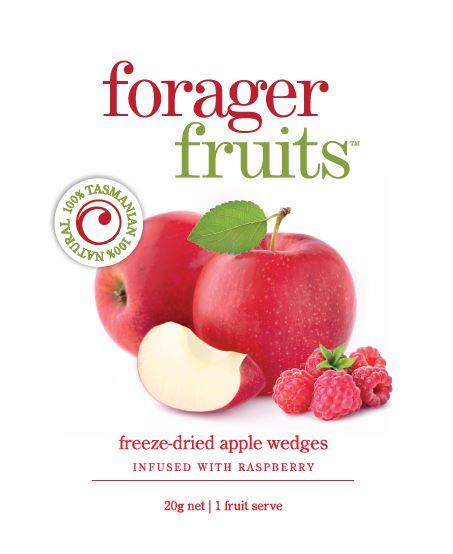 Freeze Dried Raspberry infused Apple Wedges | 100% Tasmanian