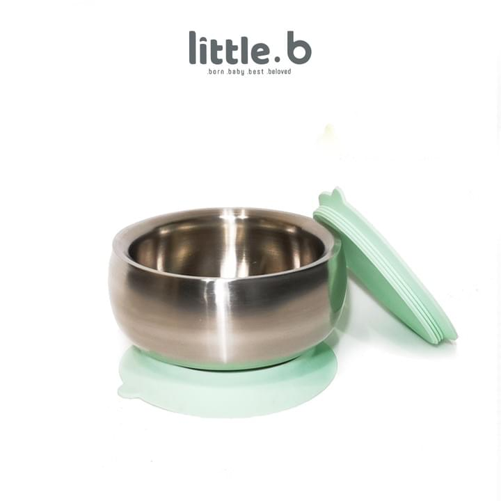 Stainless Steel-Double-ply 316 Stainless Steel Suction Baby Bowl-Green