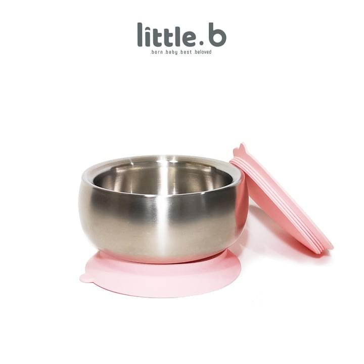 Stainless Steel-Double-ply 316 Stainless Steel Suction Baby Bowl-Pink