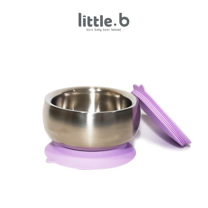 Stainless Steel-Double-ply 316 Stainless Steel Suction Baby Bowl-Purple