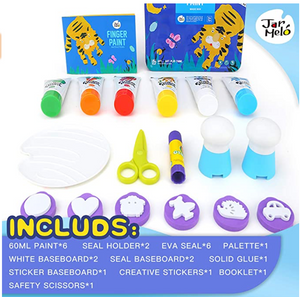 CHILDREN'S FINGER PAINT KIT - BLUE