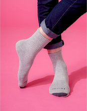 Load image into Gallery viewer, Spiral LIGHT Compression Socks (Grey) Men - Size L/XL