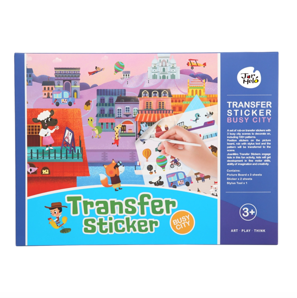 TRANSFER STICKER SCENES SET - BUSY CITY