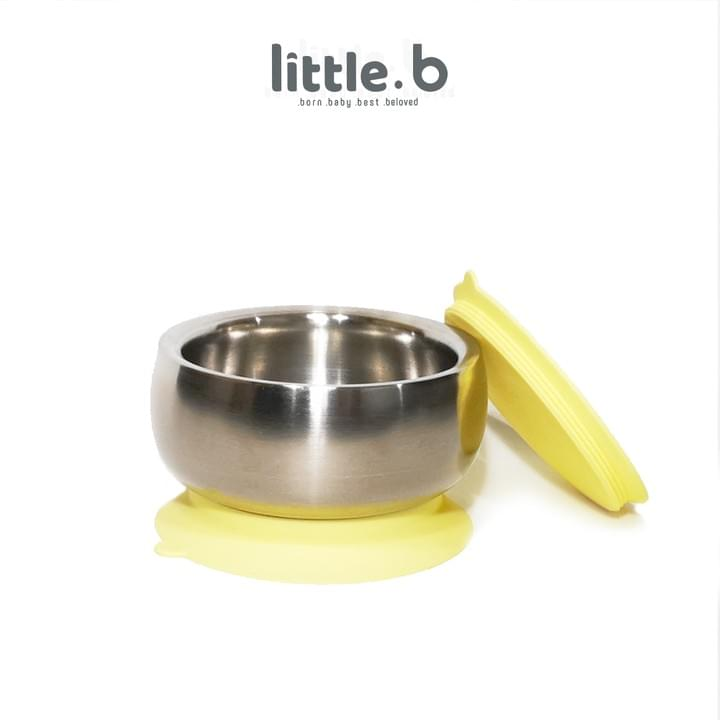 Stainless Steel-Double-ply 316 Stainless Steel Suction Baby Bowl-Yellow