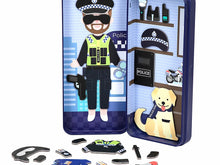 Load image into Gallery viewer, Travel Magnetic Puzzle Box - Police Officer