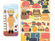 Load image into Gallery viewer, Travel Magnetic Puzzle Box - Firefighter