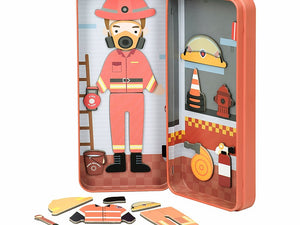 Travel Magnetic Puzzle Box - Firefighter