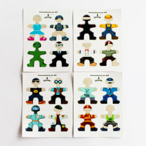 Flockmen Personalisation Sticker Set 16 Characters