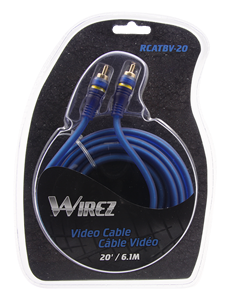 WIREZ 75-Ohm Video Cable - 20 ft