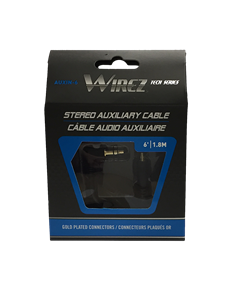 WIREZ 3.5mm Auxiliary Input Cable - 6ft