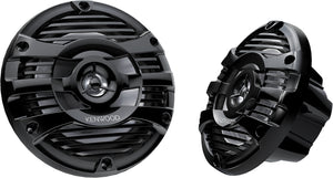 "KENWOOD 6.5"" MARINE/MOTORSPORT 2-WAY SPEAKERS - BLACK"