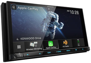 "KENWOOD eXcelon DDX9907XR 6.8"" HD DISPLAY/CAP TCH/WIRELESS A-AUTO & CARPLAY/WIRED IPHONE & ANDROID MIRRORING/4 CAM"
