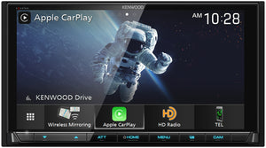 "KENWOOD eXcelon DMX957XR 6.8"" HD DISPLAY/CAP TCH/WIRELESS A-AUTO & CARPLAY/WIRED IPHONE & ANDROID MIRRORING/4 CAM"