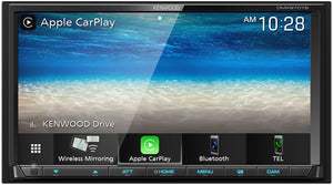 "KENWOOD eXcelon DMX907S 7"" WVGA/CAP TCH/WIRELESS A-AUTO & CARPLAY/WIRED IPHONE & ANDROID MIRRORING/4 CAM"