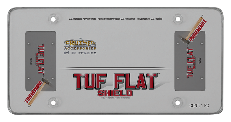 CRUISER ACCESSORIES - TUF FLAT SHIELD, SMOKE