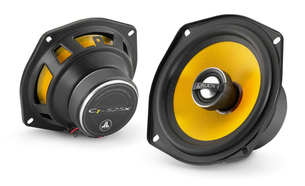 JL Audio C1-525X 5.25-inch (130mm) Coaxial Speakers with 0.75-inch (19mm) aluminum dome tweeter, sold in pairs