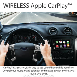 "KENWOOD DMX9707S 7"" WVGA/WIRELESS A-AUTO & CARPLAY/WIRED IPHONE & ANDROID MIRRORING/4 CAM"