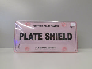 RACING BEES - PLATE SHIELD, CLEAR