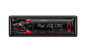 KENWOOD KMM108U F USB + AUX/RED LED/1 LINE/1 2.5V PRE OUT/REMOTE INCL.