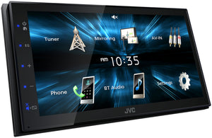 "JVC KWM150BT 6.8"" WVGA/CAP TCH/1 R USB/USB MIRRORING FOR ANDROID PHONES/SHORT CHASSIS/1 CAM"