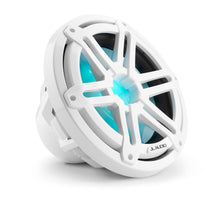 Load image into Gallery viewer, JL AUDIO M3 10-inch Marine Subwoofer for Infinite-Baffle Use (175 W, 4 Ohms) - Gloss White Sport Grille with RGB LED Illumination