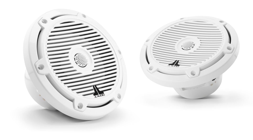 JL AUDIO M3 Standard Flange 6.5-inch Marine Coaxial System (60 W, 4 Ohms) - Gloss White Classic Grille