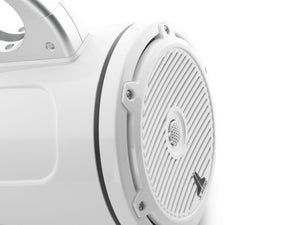 JL AUDIO M3 7.7-inch Marine Enclosed Coaxial Speaker System (70 W, 4 Ohms) - Gloss White Enclosure, Gloss White Classic Grille
