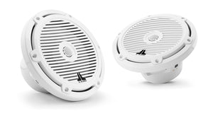 JL AUDIO M3 7.7-inch Marine Coaxial Speakers (70 W, 4 Ohms) - Gloss White Classic Grille