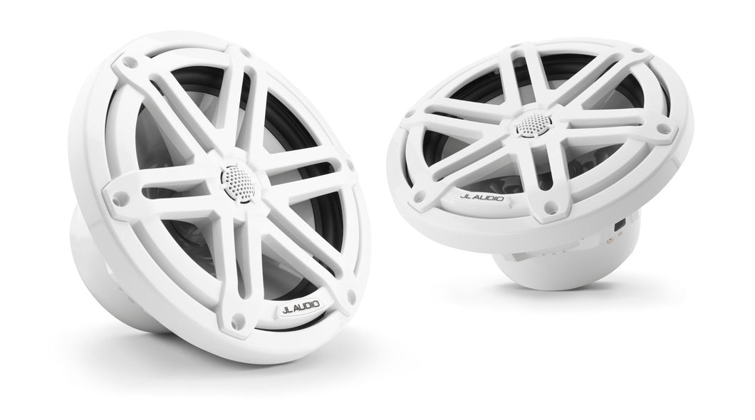 JL AUDIO M3 7.7-inch Marine Coaxial Speakers (70 W, 4 Ohms) - Gloss White Sport Grille