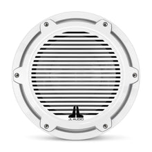 Load image into Gallery viewer, JL AUDIO M6 10-inch Marine Subwoofer Driver for Infinite-Baffle Use (250 W, 4 Ohms) - Gloss White Trim Ring, Gloss White Classic Grille