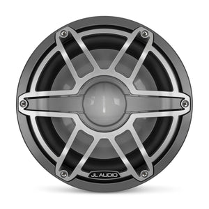 JL AUDIO M6 10-inch Marine Subwoofer Driver for Infinite-Baffle Use (250 W, 4 Ohms) - Gunmetal Trim Ring, Titanium Sport Grille