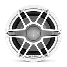 Load image into Gallery viewer, JL AUDIO M6 10-inch Marine Subwoofer Driver for Infinite-Baffle Use (250 W, 4 Ohms) - Gloss White Trim Ring, Gloss White Sport Grille