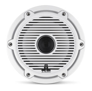 JL AUDIO M6 6.5-inch Marine Coaxial Speakers (75 W, 4 Ohms) - Gloss White Trim Ring, Gloss White Classic Grille