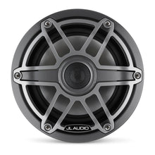 Load image into Gallery viewer, JL AUDIO M6 6.5-inch Marine Coaxial Speakers (75 W, 4 Ohms) - Gunmetal Trim Ring, Titanium Sport Grille