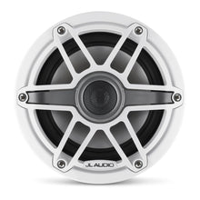 Load image into Gallery viewer, JL Audio M6 6.5-inch Marine Coaxial Speakers (75 W, 4 Ohms) - Gloss White Trim Ring, Gloss White Sport Grille