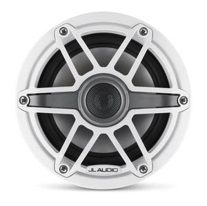 JL Audio M6 6.5-inch Marine Coaxial Speakers (75 W, 4 Ohms) - Gloss White Trim Ring, Gloss White Sport Grille