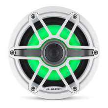 Load image into Gallery viewer, JL AUDIO M6 6.5-inch Marine Coaxial Speakers with Transflective  LED Lighting (75 W, 4 Ohms) - Gloss White Trim Ring, Gloss White Sport Grille